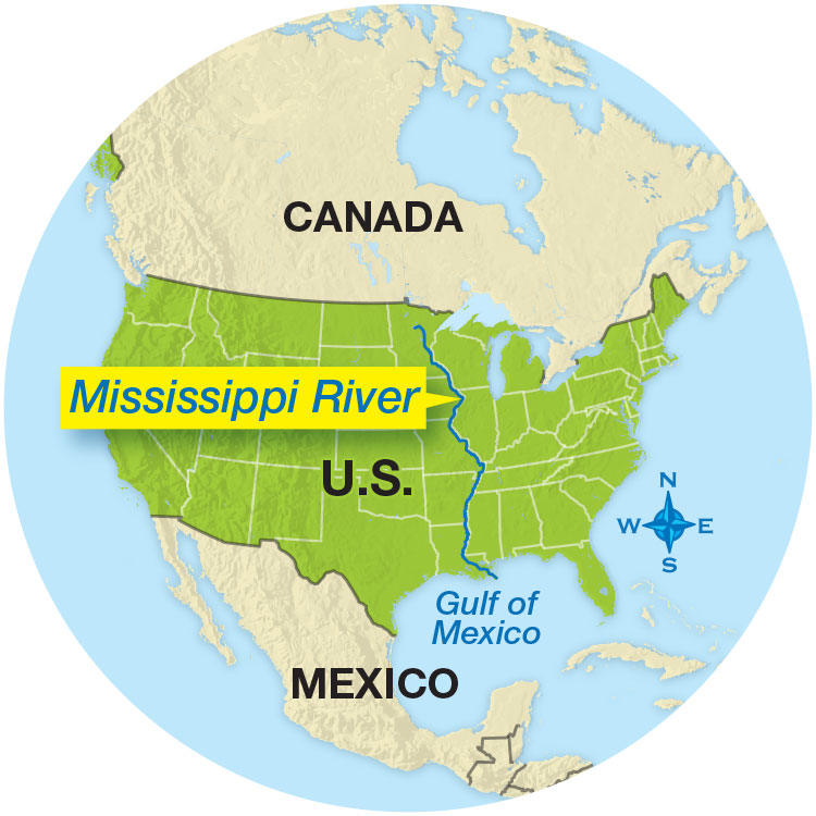 Mississippi River On World Map Massive Map Earth Science Article for Students | Scholastic