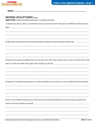 Skills Sheets