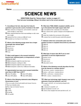 Scholastic Science World | The Current Science Magazine for Grades 6-10