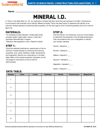 Glow In The Dark Mine Earth Science Article For Students