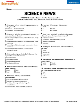Scholastic Science World   The Current Science Magazine for
