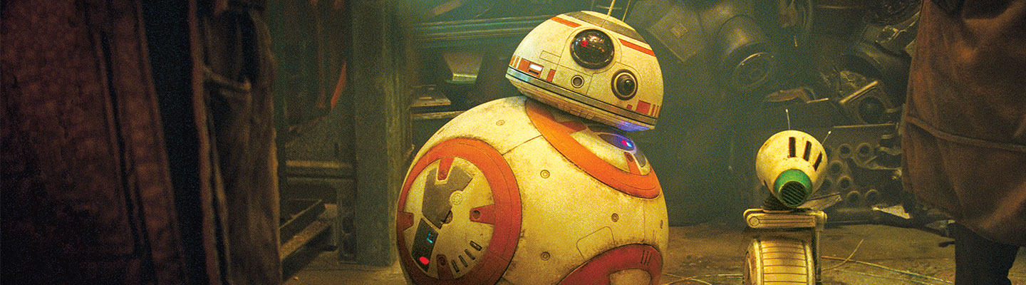 D-O and BB-8, two droids from the Star Wars films